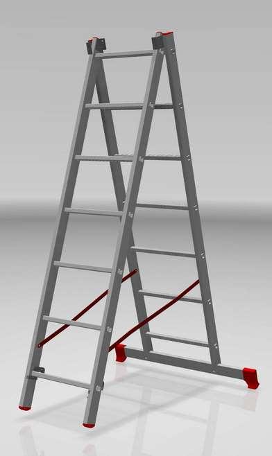 двухсекционная лестница, 7 перекладин