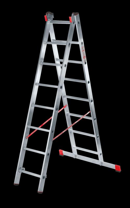 Лестница двухсекционная 2х8, 8 секций