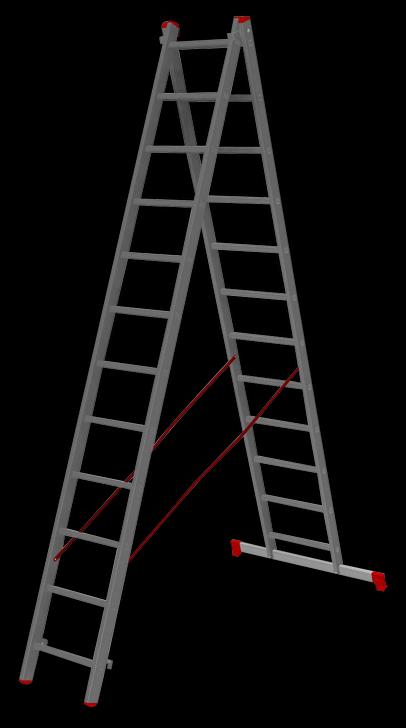 двухсекционная лестница, 12 перекладин