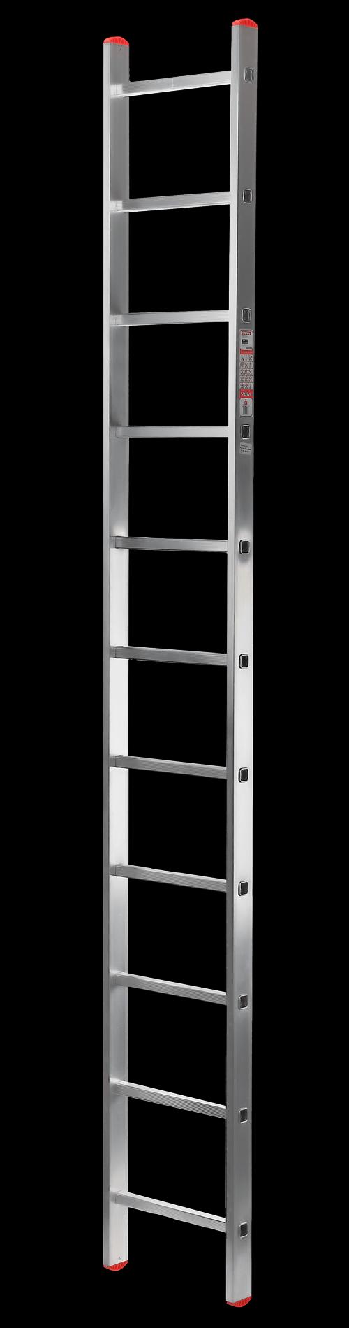 лестница односеционная алюминиевая, 11 перекладин