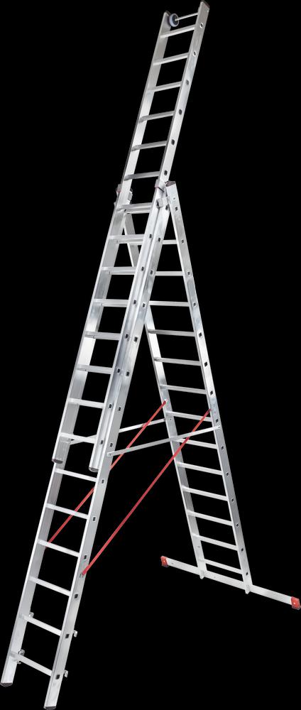 трехсекционная лестница, 14 перекладин на сецию