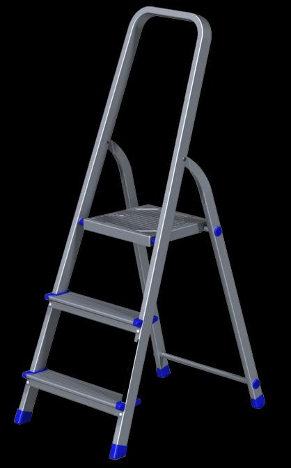 Стремянка алюминиевая 3 ступеней