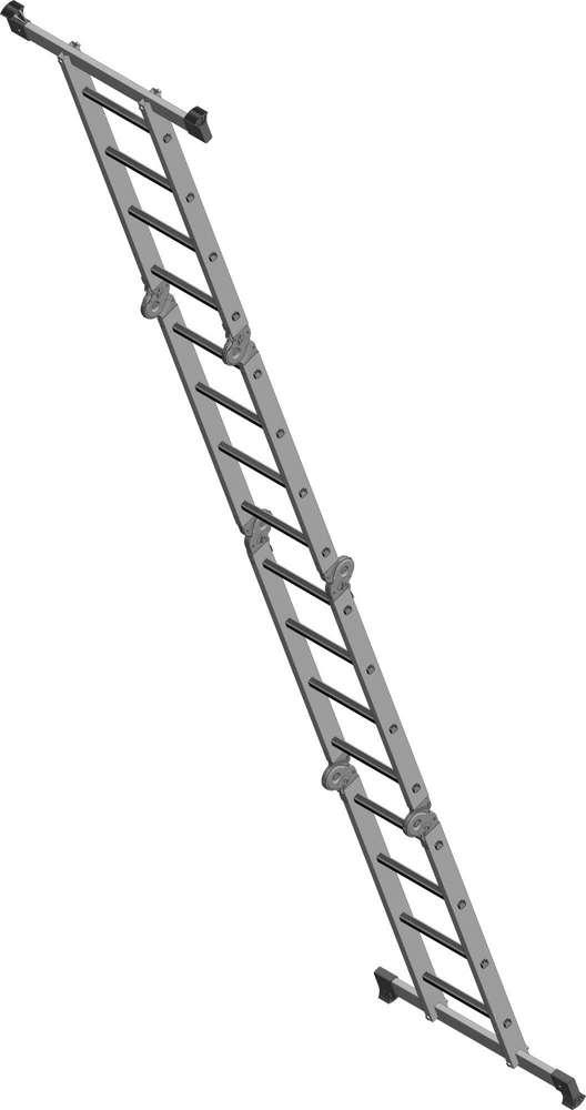 Лестница-трансформер 4х4 бытовая как приставная