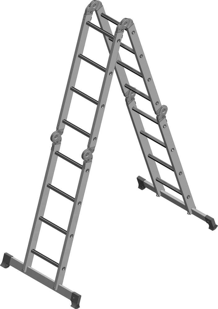 Лестница-трансформер 4х4 бытовая как стремянка