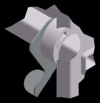 соединительный элемент в разрезе вышки